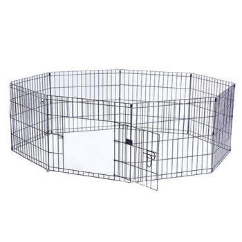 popular eight panels black folding dog fence
