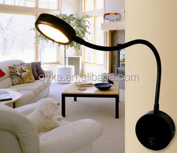 Bedroom Wall Lights Flexible Led Bedside Lamp Black Aluminum Light Painting Hotel