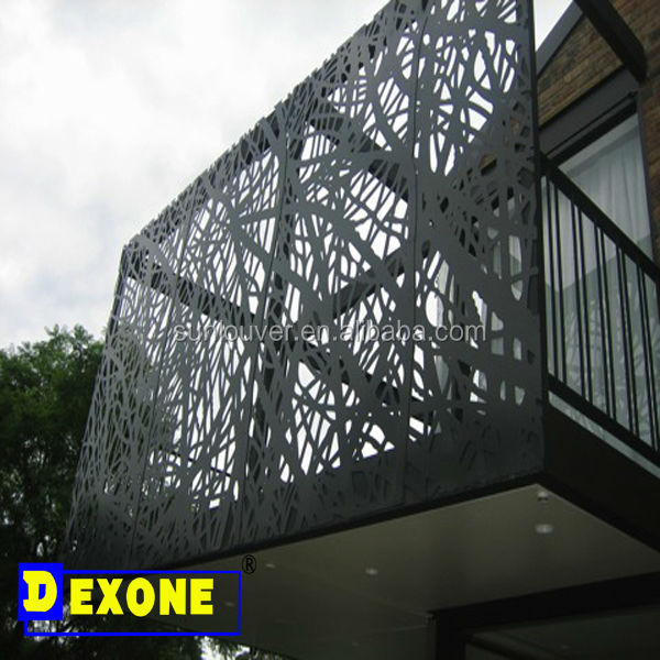 الديكور الخارجي واجهات المبنى الألمنيوم مثقوبة لوحة