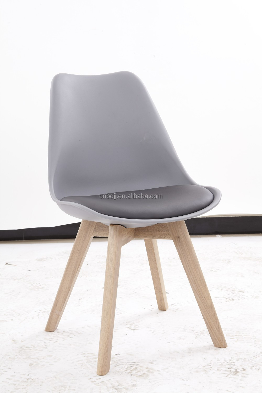 muebles hogar moderno de plstico silla de plstico silla de comedor de madera de madera maciza