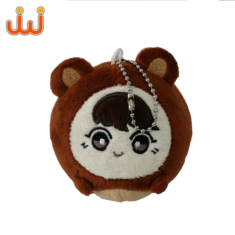 Cute Leather Animal Rabbit Fur Plush Toy Keychain