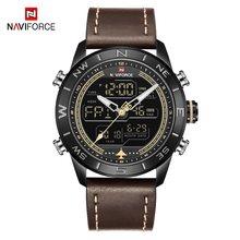 Часы NAVIFORCE мужские, модные, светодиодные, аналоговые, цифровые, люксовый бренд, водонепроницаемые, военные, кварцевые часы, мужские, спортивн...(China)