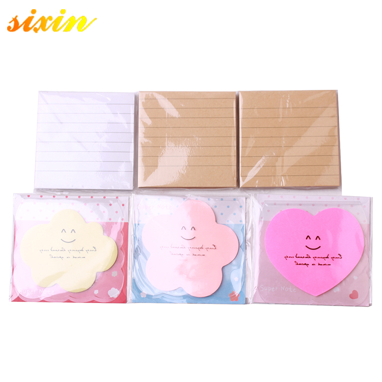 Kawaii custom พิมพ์ organizer heart shaped sticky note pad