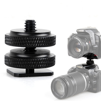 "Tripod Monopod Flash Light Stand Male to Female camera screw 1/4 to 3/8"" Thread Mount Adapter Tripod Plate Screw"