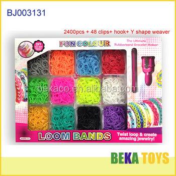 Fun Refill Elastic Rubber Band Bracelet Diy Crazy Loom Band Kit