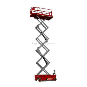 Mobile Scaffolding Scissor Lift Movable Lifting Platform With CE Inspection Certificate