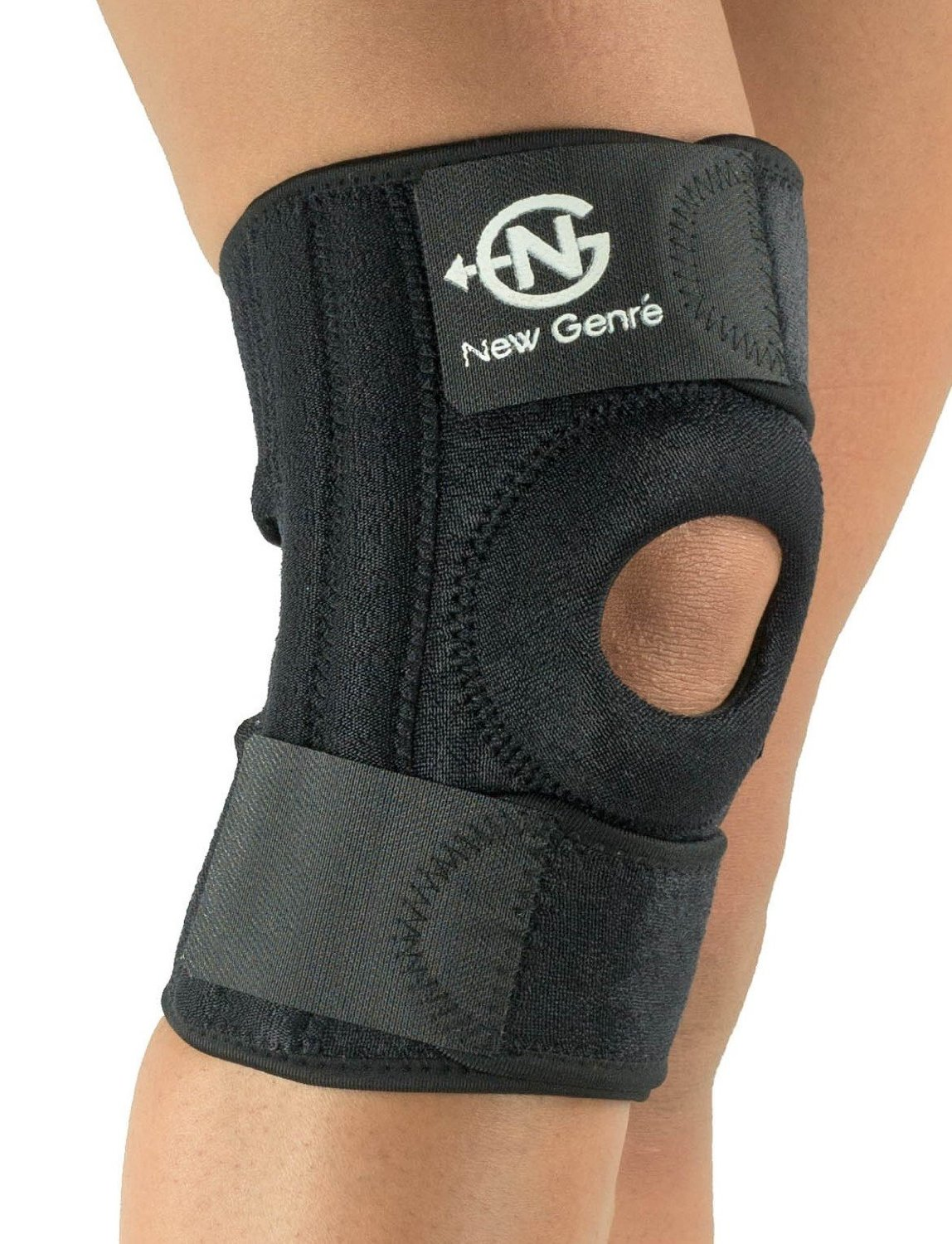 cffa6faabe Get Quotations · Knee Brace Support Sleeve(Black) by NG Sports,Adjustable  Strap Fits all SM