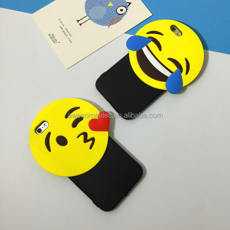 (HOT FREE SHIPPING) Laughing face cartoon emoji mobile phone case/phone case bag emoji design/case for iPhone