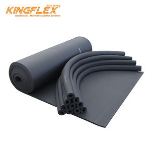Factory supply high elastic 50mm natural fire wrap black epdm foam heat  resistant floor insulation rubber sheet for HVAC