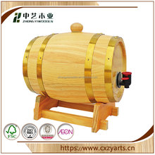 Trade assurance stainless steel hoop decoration tea chocolate storage wooden coffee beans barrel