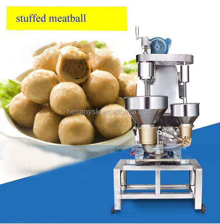 20-30mm Meat Ball Making with Stuff Filling Machine Meatball Processor Stuffed Bun Maker Machine