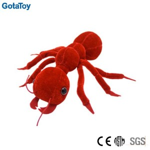 New design custom stuffed plush red ant soft toy