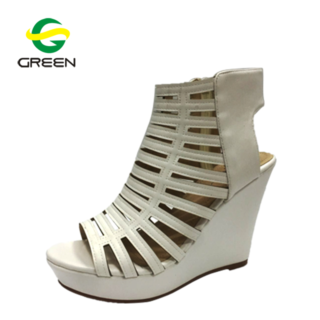 329768ab836 Caged Wedge Heels Shoes Women Sandals