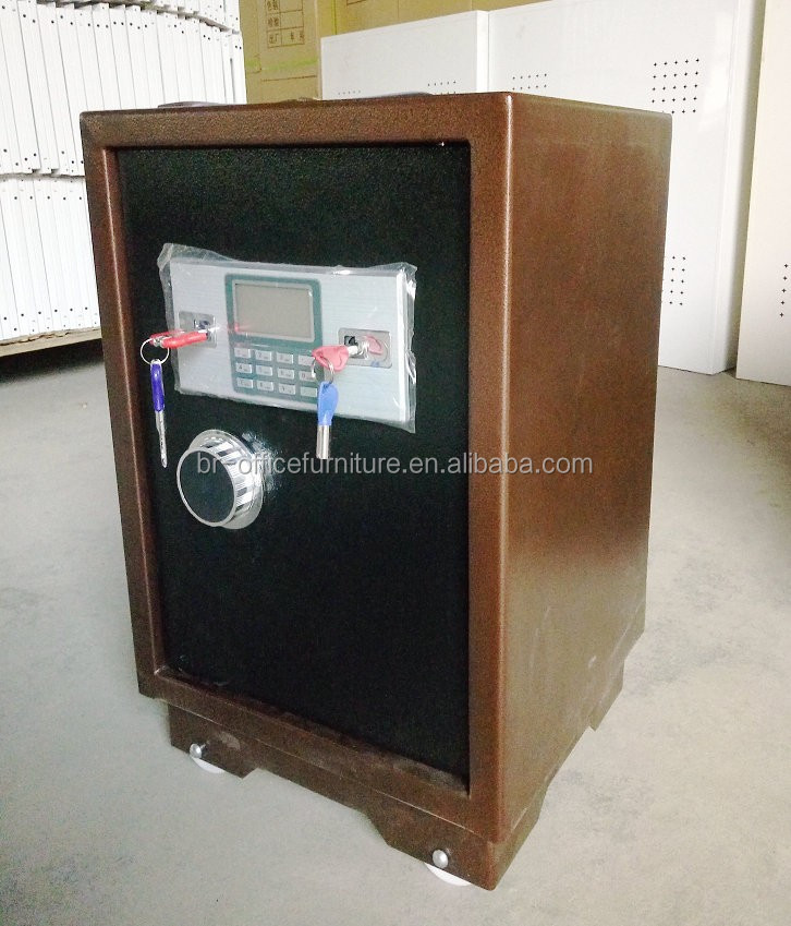 small three layer and two key office home use metal iron cash safe locker for money