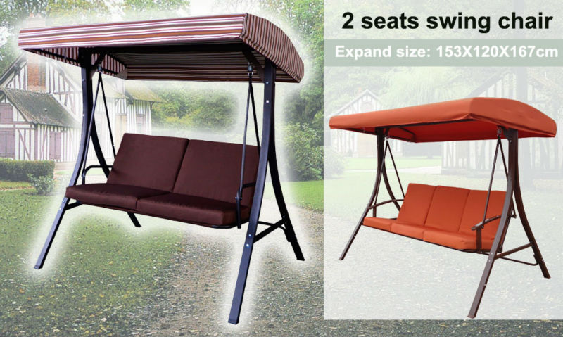 2 seat outdoor canopy swing garden swing chair lovers hanging chair free stand swing outside rocking & 2 Seat Outdoor Canopy Swing Garden Swing Chair Lovers Hanging ...