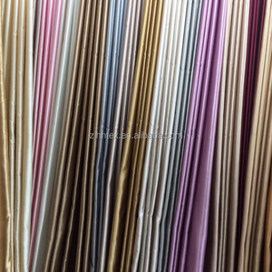 Bright gold shinny 100% poly 280 cm satin curtain fabric cheap for home textile