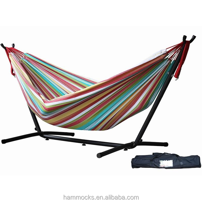 Hammocks with metal frame steel frame hammock camping cotton hammock with stand