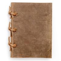 Diary Handmade Unlined Kraft Paper Vintage Leather Notebook, perfect gift for travel journal and sketchbook for artists