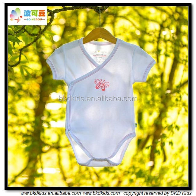 High quality Kimono organic cotton baby clothing with LOW MOQ
