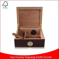 Custom Spanish Cedar Wood Humidor Hold 30 Cigars Humidor Cigar Storage Box