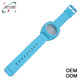 China colorful nixoning silicone watch recycled plastic strapping band plastic wrist band