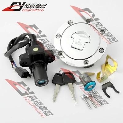 Для HONDA CBR250 19/22 NSR250 P3 / P4 CBR400 23/29 замок зажигания ключа замка газа крышка , мотоцикл замок комплект