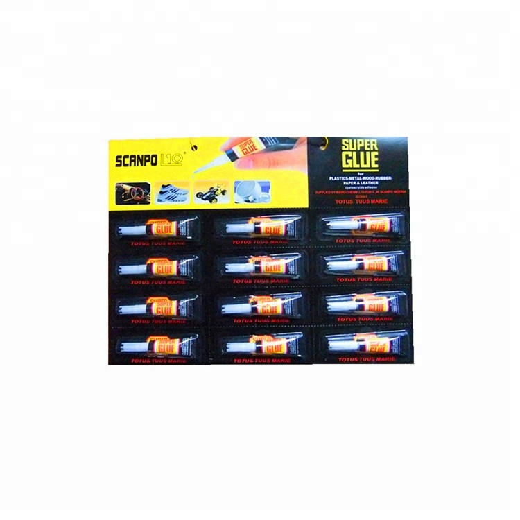 Factory Direct Sale Contact Adhesive 12pc/set Black Card Tube Package 502 Super Glue For All Use