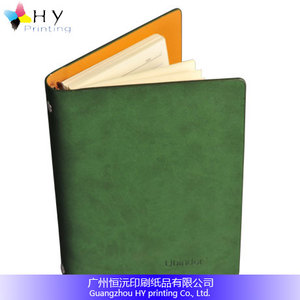 Promotions multicolor silk screen printing PVC PU leather paper Journal Daily notebook for office school