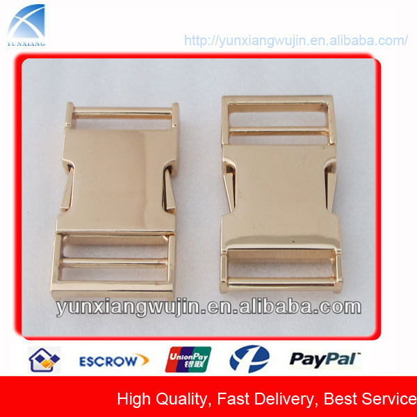 CD7855 Gold Metal Quick Side Release Bag Insert Buckle