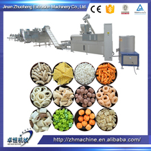 Jinan city making chocolate filled core filling pop puffed corn snack food corn chips machine