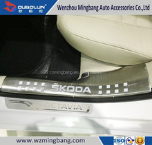 High Quality Car door plate Stainless Steel Inner Door Sill Scuff Plate for 2015 Octiva Skoda