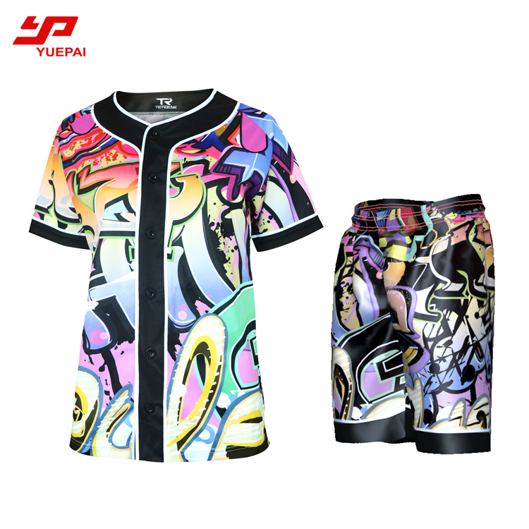 Hot koop Mens Custom Digitale Gesublimeerd Camo Honkbal Jerseys