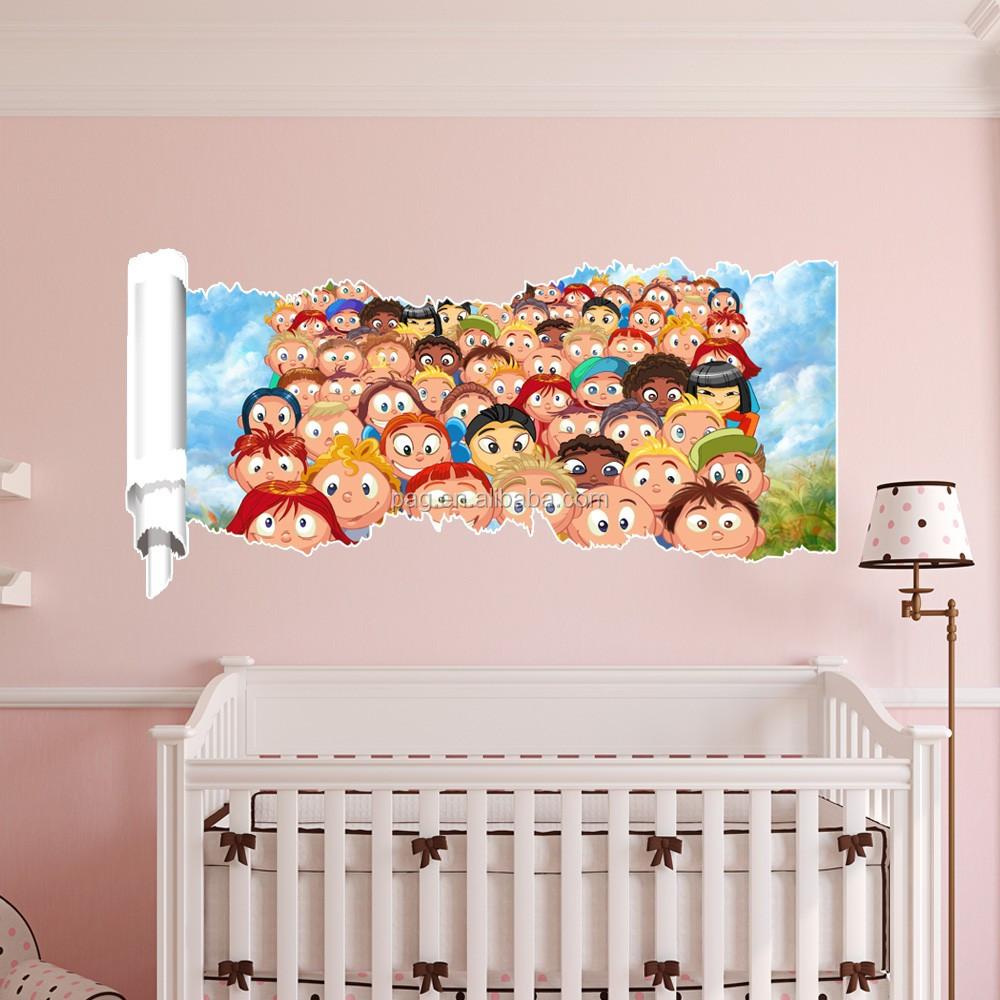 Nieuwste kinderkamer decoratie verwijderbare 3D muur decor sticker ...