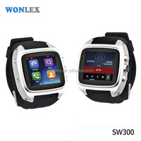 Wonlex CE/Rohs gps/wifi internet 3g android watch phone with skype watch mobile sim card gps