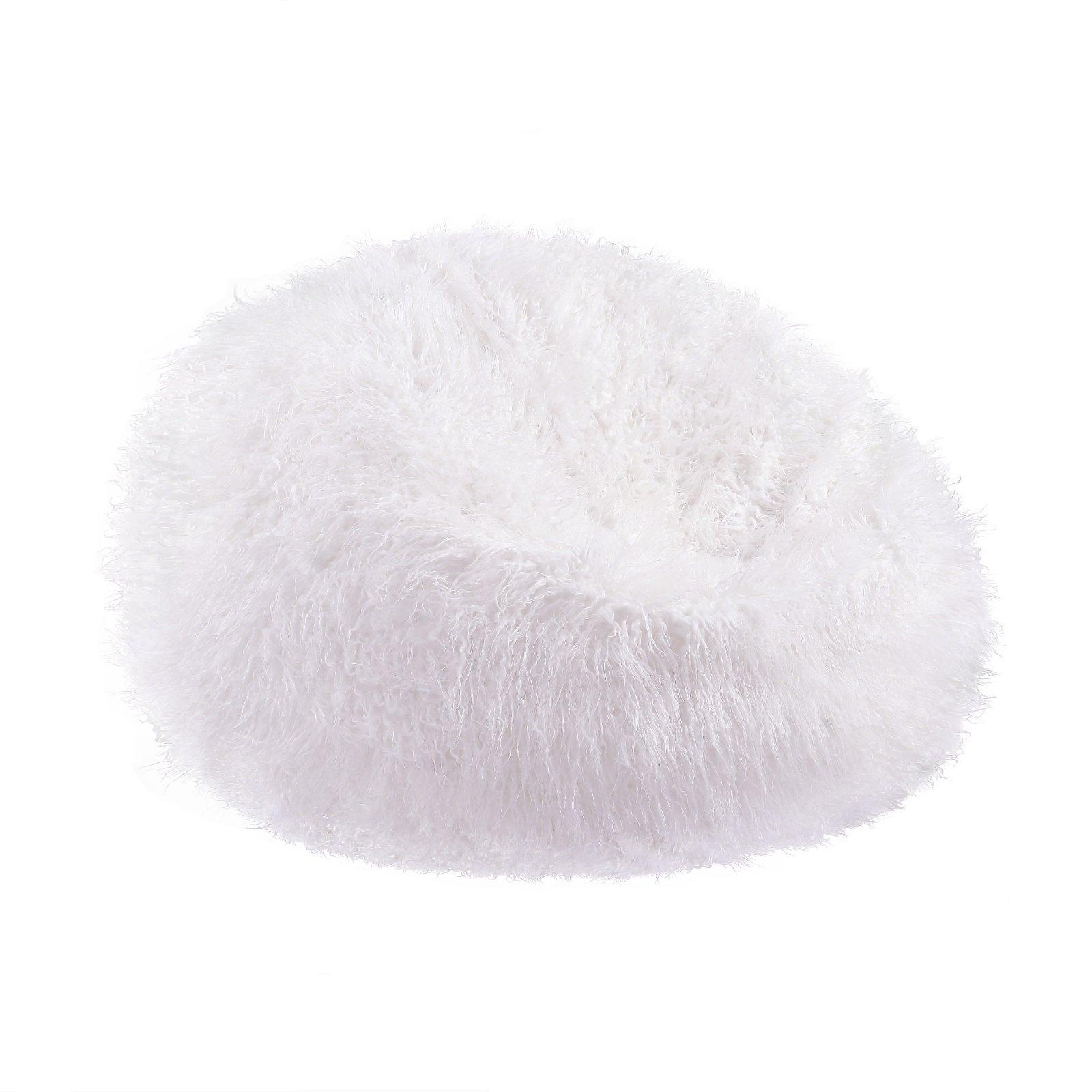 Tremendous Buy Acanva Large Plush Faux Fur Teardrop Slacker Bean Bag Creativecarmelina Interior Chair Design Creativecarmelinacom