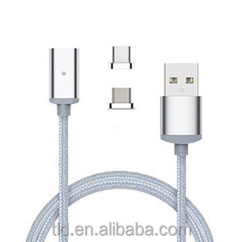 2.4a high speed round charging magnetic cable for mobile