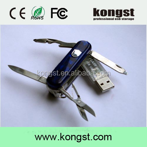 Multi-function knife usb drive 8gb, pocket gift pen drive, Swiss Army Knife usb