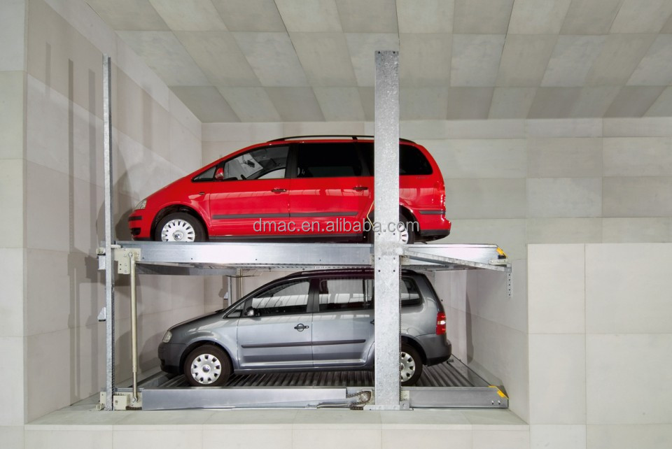 2 level parking lift used home garage /two post car parking system ...