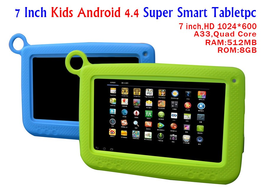 Lage prijs 7 inch android koran pc tabletten, gratis android games mini kids tabletten