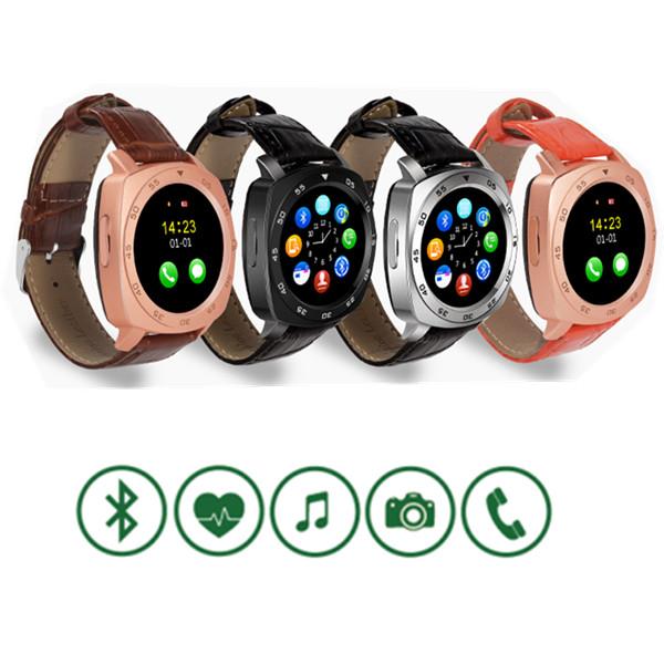heart rate monitor leather strap Android smart watch phone 1.54inch touch screen , Bluetooth smartwatch S6 with sim slot