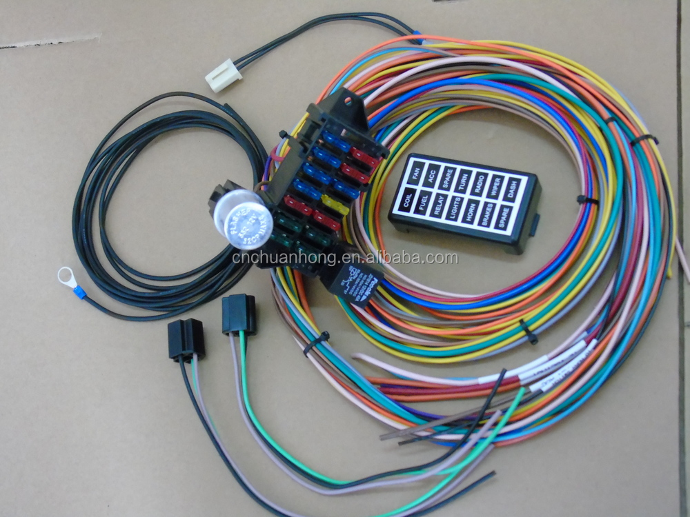 cnch new 14 circuit basic wire kit small wiring harness for rat rh wholesaler alibaba com 14 circuit wiring harness diagram 14 circut wiring harness diagram
