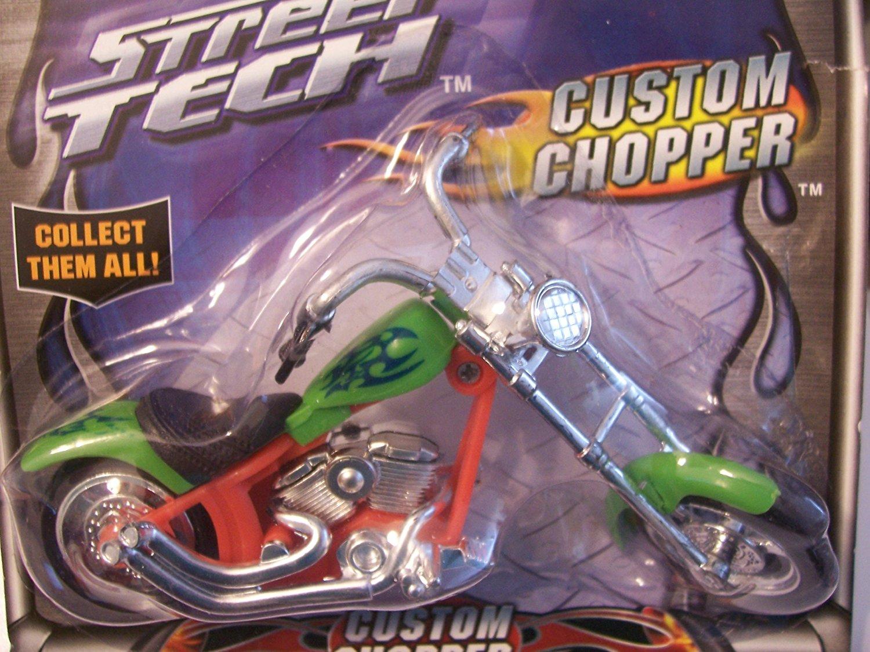 Street Tech Custom Chopper ~ Green and Orange with Blue Detail