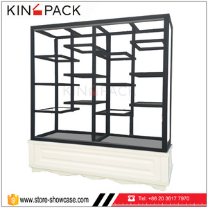 Customized wooden cake display rack glass cake display cabinet stand for bread food retail shop