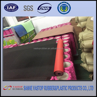 Rubber with fabric stair carpet eco friendly neoprene carpet