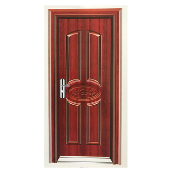 Exterior position single swing open style main indoor steel security door designs