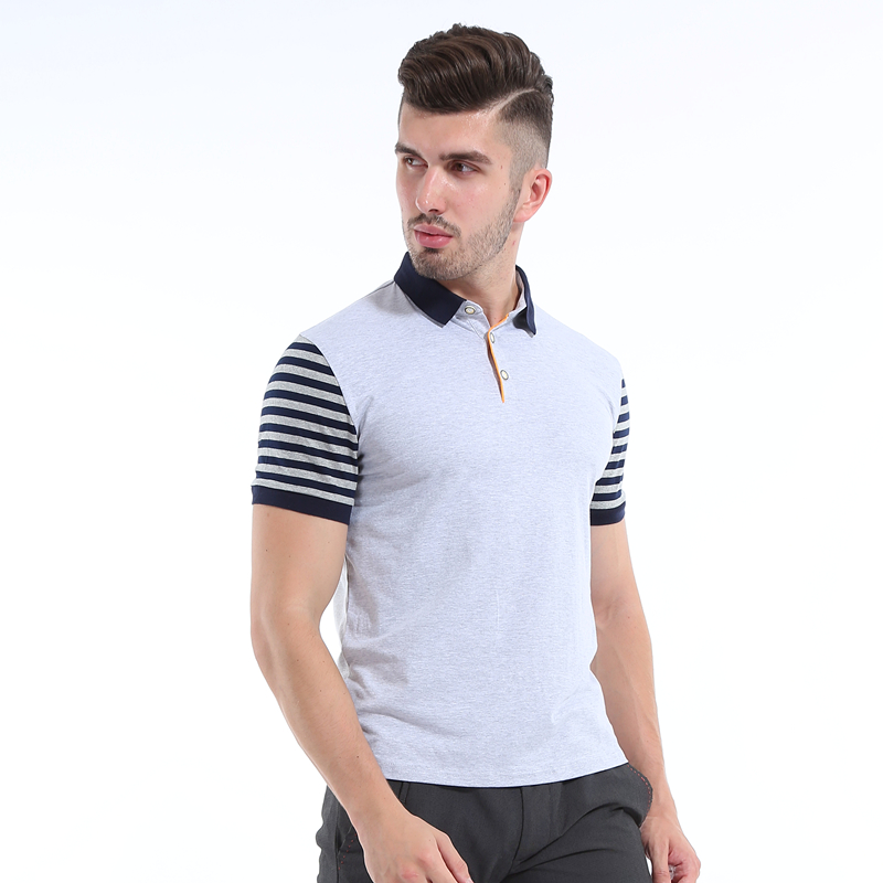 a149b5ea1b468 Liseaven Men Polos Short Sleeve Polo Shirts Gray Shirt Slim Fit Men s  Clothing Solid Color Polo Shirt Men Tops. 8302. 4P7A8520  4P7A8519   4P7A8530