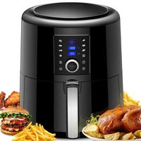 LCD Touch Screen 5.8QT XL Air fryer Oven Oilless Cooker with 7 Cooking Presets for Fast Healthier Food