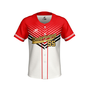 1a7bf774d4f8 Wholesale Custom 100% Polyester Sublimation Digital Printing Men Blank Red  Black And White Baseball Jersey