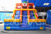 Commercial giant inflatable slide for kids, inflatable clown slide for sale