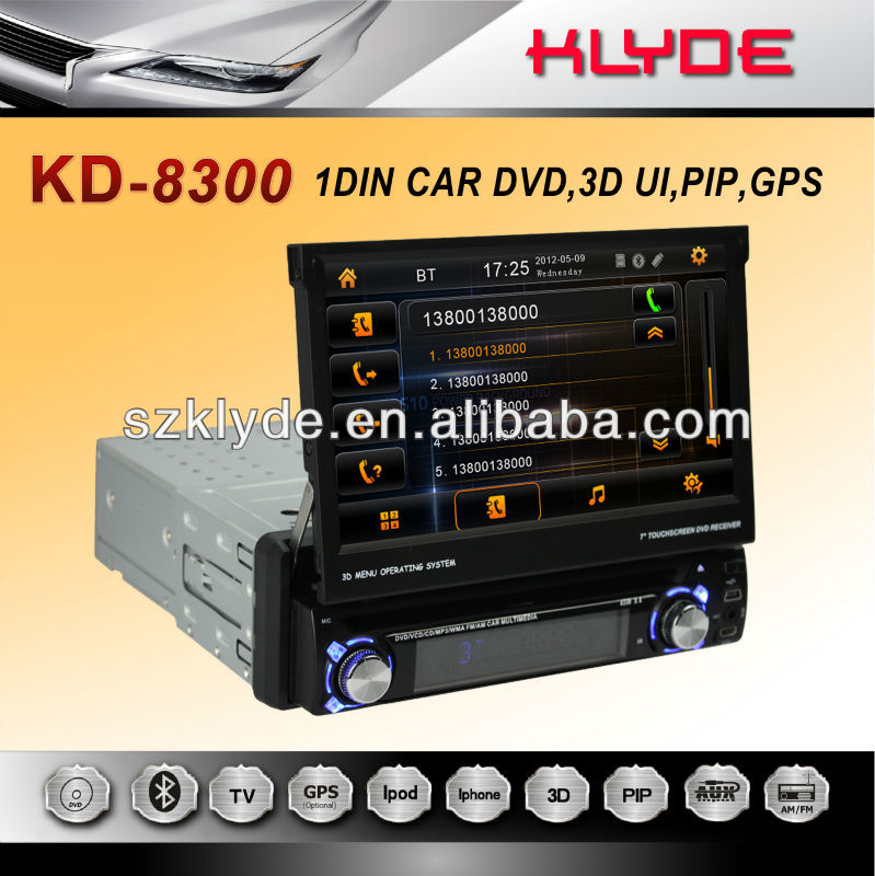 Unique and new design 1Din Car DVD with detachable panel